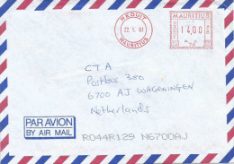 """Mauritius Maurice 2001 Reduit Meter Franking Neopost """"Electronic"""" RC 74 Sugar Industry Cover - Mauritius (1968-...)"""