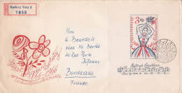 TCHECOSLOVAQUIE BLOC FEUILLET STOLET PRODANE NEVESTY   Sur Lettre Recommandée > Bordeaux France Smetana - Briefe U. Dokumente