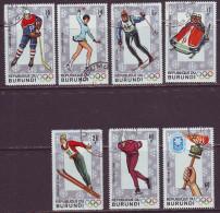 Burundi 1968. Olympic Winter Games 7v. Used. Gest. - Winter 1968: Grenoble