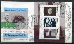 """Germany 1995 Sonderbeleg Kino,Cinema Mit Mi.Nr.1815/17 Aus Block 33 U.ESST """"100 Jahre Deutscher Film""""1 Beleg - Cinema"""