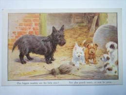 "CHIENS  :  Jolie Fantaisie  "" Artistique  Series  N°2606 ""  Our Biggest Troubles Are The Little Ones ! - Chiens"