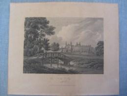 Gravure Antique De 1805 Du College Eaton - Antique Engraving Of Eaton College In Bucks - Prints & Engravings