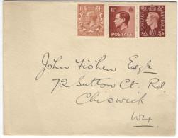 GB - Regno Unito - GREAT BRITAIN - UK - 1937 - No Canceled - Viaggiata Per Chiswick, England - 1902-1951 (Re)