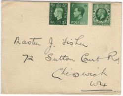 GB - Regno Unito - GREAT BRITAIN - UK - 1937 - No Canceled - Viaggiata Per Chiswick, England - Storia Postale