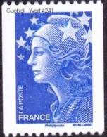 France N° 4241 ** Marianne De Beaujard Gommé - Roulette De 20 Grammes, Pour La CEE Le Bleu - France