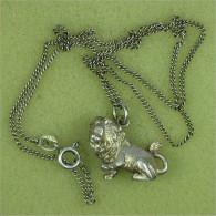 """Kette - Silber 925 - 42 Cm """"3D-Löwe"""" - Colliers/Chaînes"""