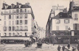 PARIS VI  Rue BONAPARTE Au QUAI MALAQUAIS Animé Attelages Commerces CAFE  Fabrique COURONNES En Perles - Arrondissement: 06