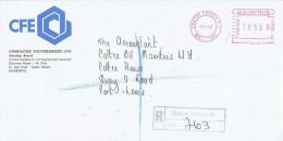 "Mauritius Maurice 1997 Quatre Bornes PO Meter Franking Pitney Bowes-GB ""Paragon"" PT 0010 Domestic Registered Cover - Mauritius (1968-...)"
