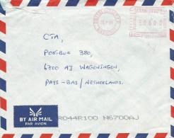 """Mauritius Maurice 2001 Quatre Bornes PO Meter Franking Pitney Bowes-GB """"Paragon"""" PT 0010 Cover - Mauritius (1968-...)"""