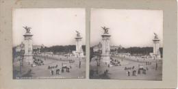 Photo Stéréoscopique N° 79 Paris Exposition Universelle De 1900 Le Pont Alexandre III ( SIP ) Au Dos Teulet Besançon - Stereoscopic