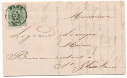 1875 BRIEF MET PZ 30 VAN GAND(1RING DU) NAAR St GHISLAIN ZIE SCAN(S) - 1869-1883 Leopold II