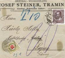 Austria Letter Piece In 1910 With Swiss Tax (Letter Piece, Morceau De Lettre, Briefstück) - Taxe