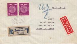 Israel Express Reco Letter 1952 - Israel