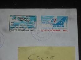 LETTRE ROUMANIE ROMANIA ROMANA AVEC YT PA 319 ET PA 320 - AVION AIR FRANCE TAROM - - 1948-.... Républiques