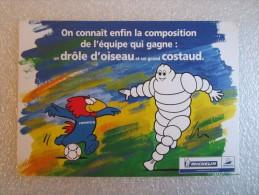 PUBLICITÉ MICHELIN BIBENDUM FRANCE 1998 SPORT FOOTBALL - Publicité