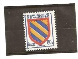 1954 N°1001 - Y T - Cote 0,30 Euros - France Timbre Neuf - Nivernais - - 1941-66 Armoiries Et Blasons