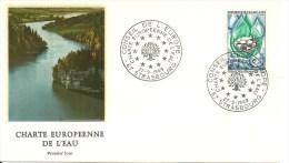 Env 1er Jour Avec  1 Timbre  N° 1612 Conseil De L´Europe Oblitération Strasbourg De 1969    Voir Le Scan - Timbres