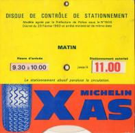 DISQUE de CONTROLE de STATIONNEMENT Pneus Michelin  VILLE de Paris
