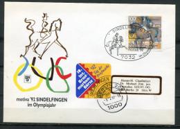 "Germany 1992 Sonderbeleg Reitsport Mit Mi.Nr. 1594 Und SST""7032 Sindelfinen-im Olympiajahr-Pferdesport,Horses ""1 Beleg - Horses"