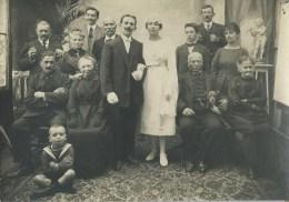410Stu   Grande Photo Mariage Noce Des Années 20 Les Mariés Et Leurs Familles - Noces