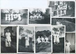 410Stu   Lot De 8 Photos Eleves De L'école De Sage Femmes Infirmieres - Health