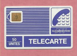 Variété Pyjamas 50 Unités PTT Télécommunication Puce GEM N° Violet 1301 Au Verso Télécarte Avec 18 Unités - Pyjamas'