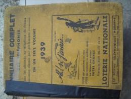 Annuaire Complet De 1939 - Unclassified