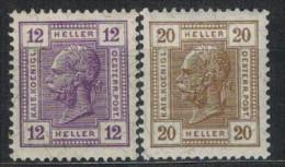 �STERREICH 1906 - MiNr: 135+136    */MH