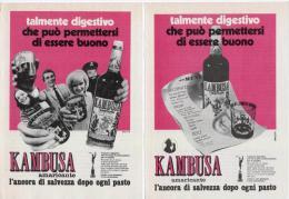 1970 - KAMBUSA -  2 Pagine Pubblicità Cm. 13 X 18 - Alcoolici