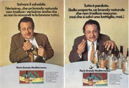 1970 - FLORIO BRANDY Mediterraneo  -  2 Pagine Pubblicità Cm. 13 X 18 - Alcoolici