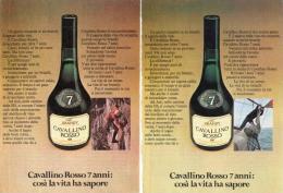 1970 - Brandy CAVALLINO ROSSO -  2 Pag. Pubblicità Cm. 13 X 18 - Alcoolici