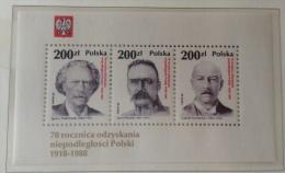 Poland MNH 1988 Mi B107 - Blocchi E Foglietti