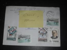 LETTRE RECOMMANDEE ROUMANIE ROMANIA ROMANA AVEC YT 4339 4338 4107 PA317 - GYMNASTIQUE AVION JUDO MEDECIN MEDECINE - - 1948-.... Républiques
