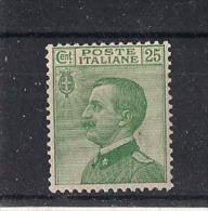 REGNO D'ITALIA   1927  EFFIGE  V.EMANUELE  III   SASS. 219  MNH XF - Nuovi