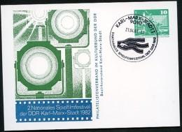 FILMFESTIVAL Karl-Marx-Stadt  DDR PP16 C2/018 Privat-Postkarte Sost. 1982 - Film