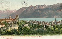 SWITZERLAND - Lausanne - Vue Generale Et Les Alpes  1910 - Good Postmarks - VD Vaud