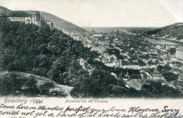 GERMANY - Heidelberg Panorama Von Der Terrasse - Vignette 1905 - Hotel De 'Europe Imprint - Heidelberg