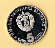 BULGARIA - 1985, 5 Leva - CuNi - Bulgaria