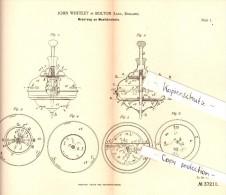Original Patent - John Whiteley In Bolton , England , 1885 , Musikkreisel , Kreisel , Music Gyro , Musique Gyroscope !!! - Antikspielzeug