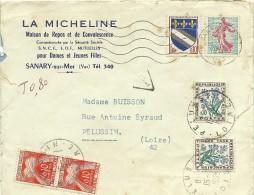 ENVELOPPE  LA MICHELINE MAISON REPOS SANARY VAR LETTRE TAXEE 1965 - 1960-.... Usati