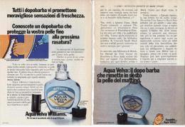 1973/74 - AQUA VELVA (Williams) -  2  Pubblicità Cm. 13,5 X 18,5 - Riviste