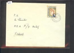 SUISSE MILITAIRE - TIMBRE INF. RGT.26  SUR ENVELOPPE - POINT DE ROUILLE SUR TIMBRE - Documents