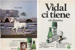 1973/74 - VIDAL (spuma / Dopobarba / Eau De Cologne) - 3 Pubblicità Cm. 13 X 18 - Magazines