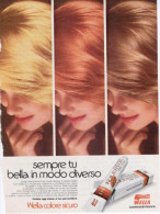 1974 - WELLA  -  1  Pubblicità Cm. 13,5 X 18,5 - Riviste