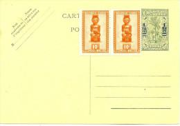 LBL20 - CONGO BELGE - EP CP 1fr / 60c VERT NEUVE - 1947-60: Covers