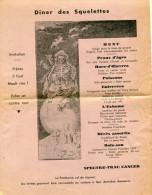 42 DOCUMENTS ANCIENS MENU ENTRÉE CABARET NÉANT-LE MORT-UNIVERSITAIRE BONOS DE RACIONAMIENTO-PUBLICITÉ- RARISSIME GECKO - Historische Documenten