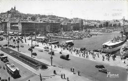Marseille - Le Quai Des Belges Et Notre-Dame De La Garde - Carte Mireille Dentelée - Vieux Port, Saint Victor, Le Panier