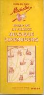 GUIDE-TOURISTIQUE-1953-MI CHELIN-JAUNE-NORD FRANCE-BELEGIQUE-LUXEMBOURG- EDITION-PEU SERVI--BE-RARE - Michelin (guides)