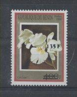 FLEUR ORCHIDÉE Bénin Surcharge De 2000 1251 Cote 200euro RARE - FLOWER BLUME ** MNH - Orchids
