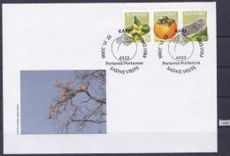 SLOVENIA 2006; FDC; Mi: 598, 599, 600 ; Persimmon Flower, Persimmon Fruit, Flatid Planthopper - Metcalfa Pruinosa Say - Fruits
